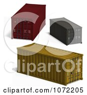 Clipart 3d Cargo Containers 2 Royalty Free CGI Illustration by Ralf61