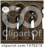 Clipart 3d Medieval Stone Architecture 8 Royalty Free CGI Illustration
