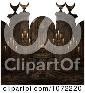 Clipart 3d Moon Cult Scene With A Crystal Ball And Candles 2 Royalty Free CGI Illustration by Ralf61