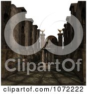 Clipart 3d Moon Cult Scene With A Crystal Ball Royalty Free CGI Illustration