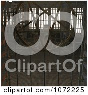 Clipart 3d Medieval Rusty Gate And Chamber Royalty Free CGI Illustration