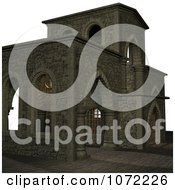 Clipart 3d Medieval Stone Architecture 5 Royalty Free CGI Illustration