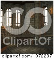 Clipart 3d Stone Medieval Fantasy Interior 7 Royalty Free CGI Illustration