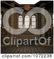 Clipart 3d Stone Medieval Fantasy Interior 6 Royalty Free CGI Illustration