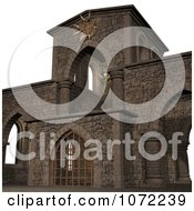 Clipart 3d Medieval Stone Architecture 7 Royalty Free CGI Illustration