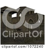 Clipart 3d Medieval Stone Architecture 3 Royalty Free CGI Illustration