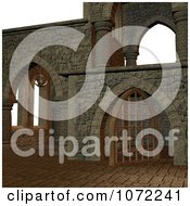 Clipart 3d Medieval Stone Architecture 4 Royalty Free CGI Illustration