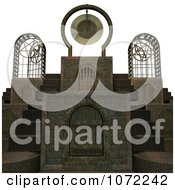 Clipart 3d Medieval Stone Architecture 2 Royalty Free CGI Illustration