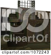Clipart 3d Medieval Stone Architecture 1 Royalty Free CGI Illustration