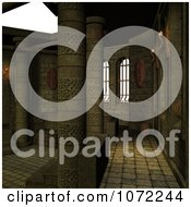 Clipart 3d Stone Medieval Fantasy Interior 9 Royalty Free CGI Illustration