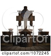 Clipart 3d Medieval Ceremonial Scene Royalty Free CGI Illustration
