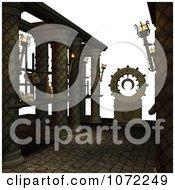 Clipart 3d Skulls On Shelves Royalty Free CGI Illustration by Ralf61