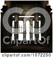 Clipart 3d Medieval Stone Architecture 11 Royalty Free CGI Illustration