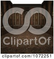 Clipart 3d Stone Medieval Fantasy Interior 5 Royalty Free CGI Illustration
