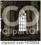 Clipart 3d Medieval Garden Courtyard Scene 2 Royalty Free CGI Illustration
