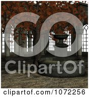 Clipart 3d Medieval Garden Courtyard Scene 4 Royalty Free CGI Illustration by Ralf61