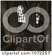 Clipart 3d Medieval Garden Courtyard Scene 5 Royalty Free CGI Illustration