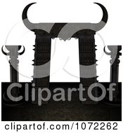 Clipart 3d Medieval Archway 1 Royalty Free CGI Illustration