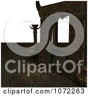 Clipart 3d Medieval Archway 2 Royalty Free CGI Illustration