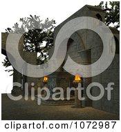 Clipart 3d Medieval Altar 1 Royalty Free CGI Illustration