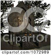 Clipart 3d Medieval Altar 3 Royalty Free CGI Illustration