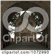 Clipart 3d Medieval Altar 4 Royalty Free CGI Illustration