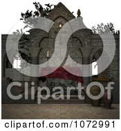 Clipart 3d Medieval Altar 5 Royalty Free CGI Illustration