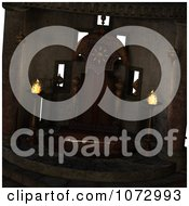 Clipart 3d Medieval Fantasy Interior 1 Royalty Free CGI Illustration