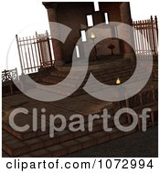 Clipart 3d Medieval Fantasy Interior 2 Royalty Free CGI Illustration