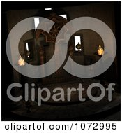 Clipart 3d Medieval Fantasy Interior 3 Royalty Free CGI Illustration