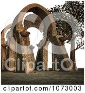Clipart Stone Passage Royalty Free CGI Illustration
