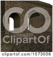 Clipart 3d Medieval Stone Architecture 9 Royalty Free CGI Illustration