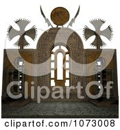 Clipart 3d Medieval Stone Architecture 10 Royalty Free CGI Illustration