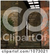 Clipart 3d Medieval Fantasy Stairs Interior 5 Royalty Free CGI Illustration