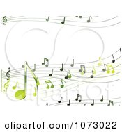 Clipart Green Music Notes With Copyspace Royalty Free Vector Illustration