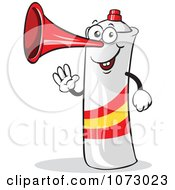 Clipart Spain Air Horn Waving Royalty Free Vector Illustration by Holger Bogen