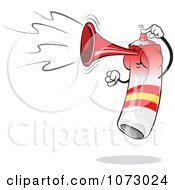 Clipart Spain Air Horn Blowing And Jumping Royalty Free Vector Illustration by Holger Bogen #COLLC1073024-0045