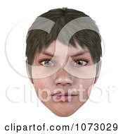 Clipart 3d Short Haired Girls Face Royalty Free CGI Illustration by Ralf61