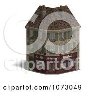 Clipart 3d Vintage Corner Bistro Building 2 Royalty Free CGI Illustration
