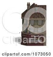 Clipart 3d Vintage Corner Bistro Building 3 Royalty Free CGI Illustration