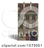 Clipart 3d Vintage Bookstore Building 1 Royalty Free CGI Illustration