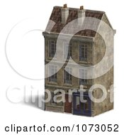 Clipart 3d Vintage Bookstore Building 2 Royalty Free CGI Illustration