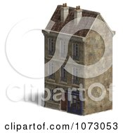 Clipart 3d Vintage Bookstore Building 3 Royalty Free CGI Illustration
