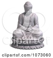 Clipart 3d Stone Buddha Statue 3 Royalty Free CGI Illustration