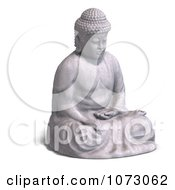 Clipart 3d Stone Buddha Statue 2 Royalty Free CGI Illustration