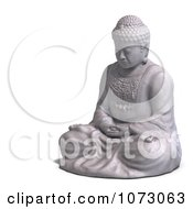 Clipart 3d Stone Buddha Statue 4 Royalty Free CGI Illustration
