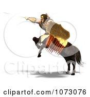 Clipart 3d Centaur Man In Battle Royalty Free CGI Illustration