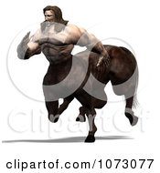 Clipart 3d Centaur Man Running Royalty Free CGI Illustration