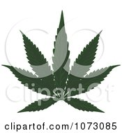 Clipart Medical Marijuana Cannabis Leaf Royalty Free Vector Illustration by dero