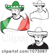 Clipart Mexican Men Smoking Cigarettes Royalty Free Vector Illustration